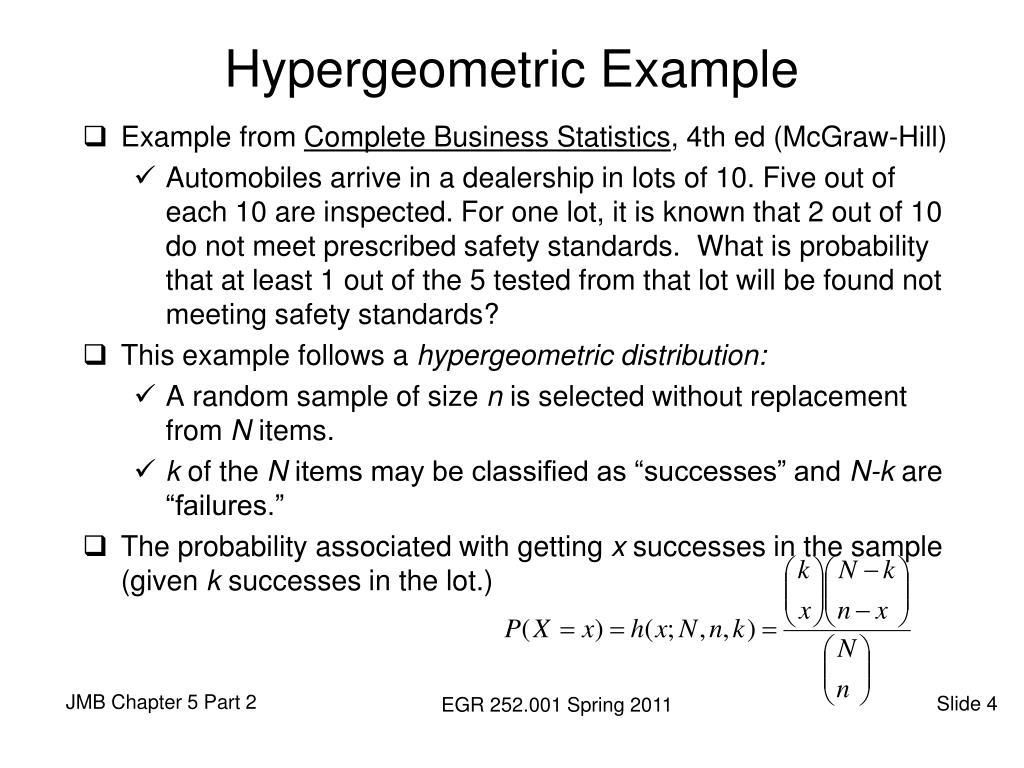 Hypergeometric Example