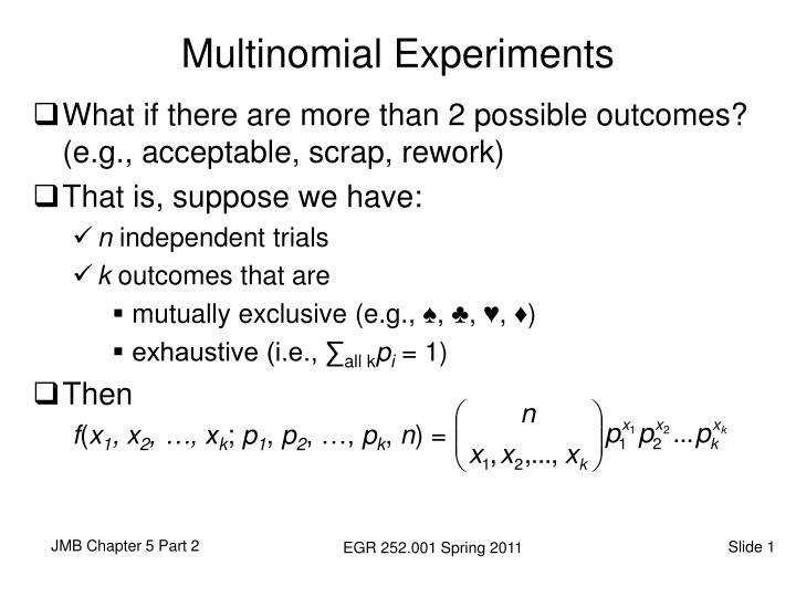 Multinomial experiments
