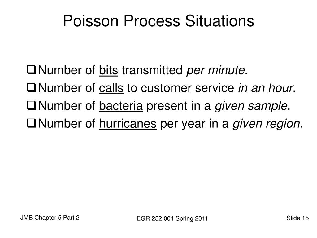 Poisson Process Situations