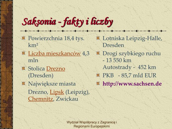 Saksonia f akty i liczby