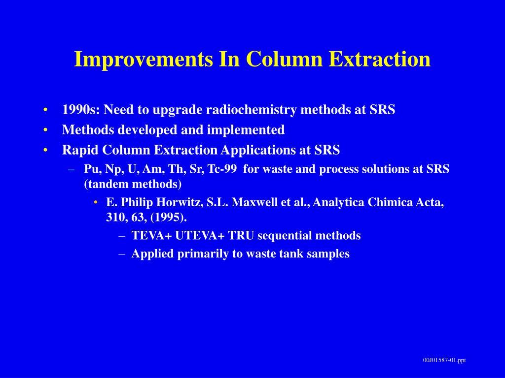 Improvements In Column Extraction