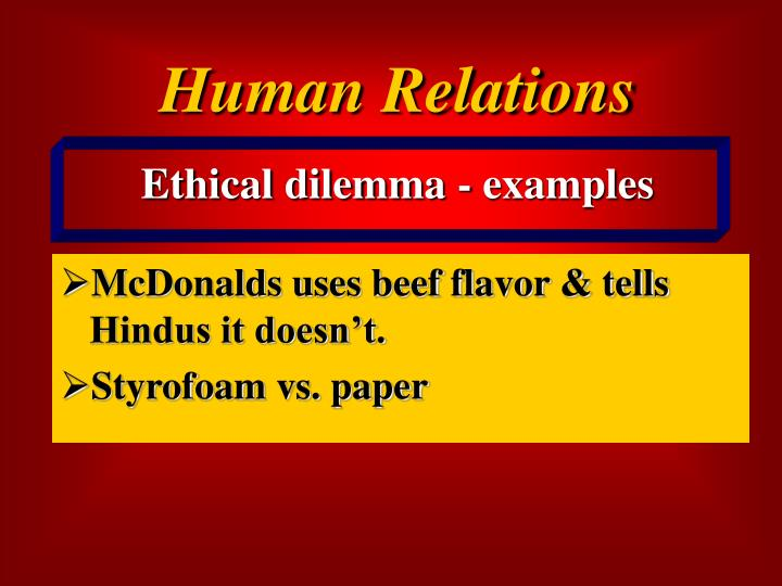 mcdonalds code of ethics