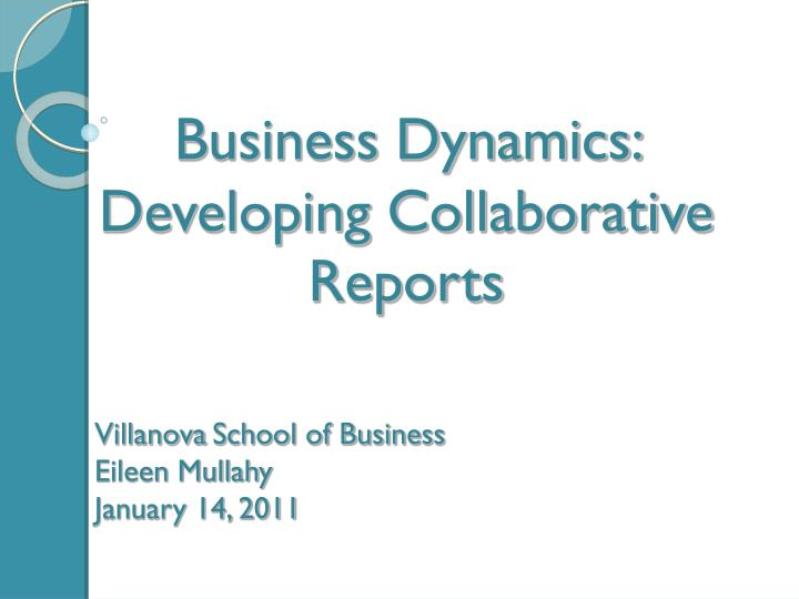 villanova school of business eileen mullahy january 14 2011 n.