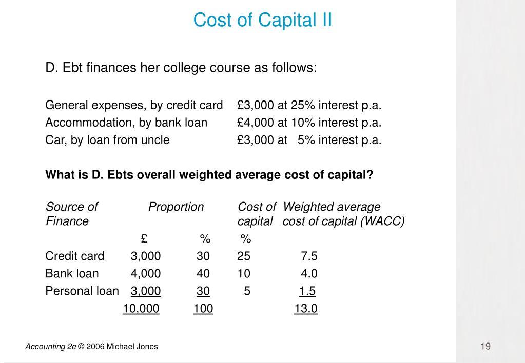 Cost of Capital II