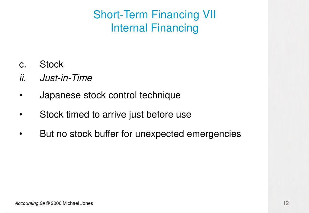 Short-Term Financing VII