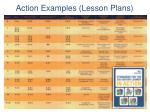 action examples lesson plans