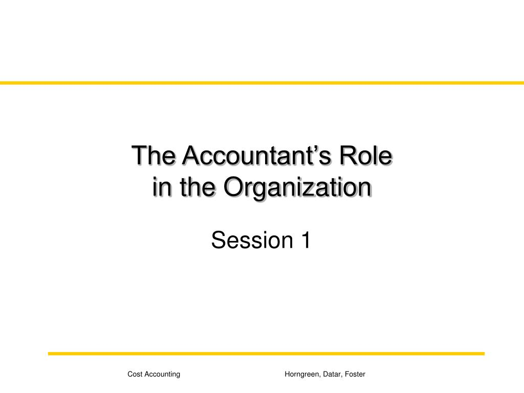 the role of accountant in a This paper explores the role of accounting in a religious setting and evaluates the  sacred‐secular divide developed by laughlin and booth who suggested that.