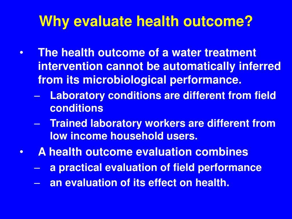 health evaluation outcome