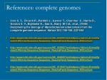 references complete genomes