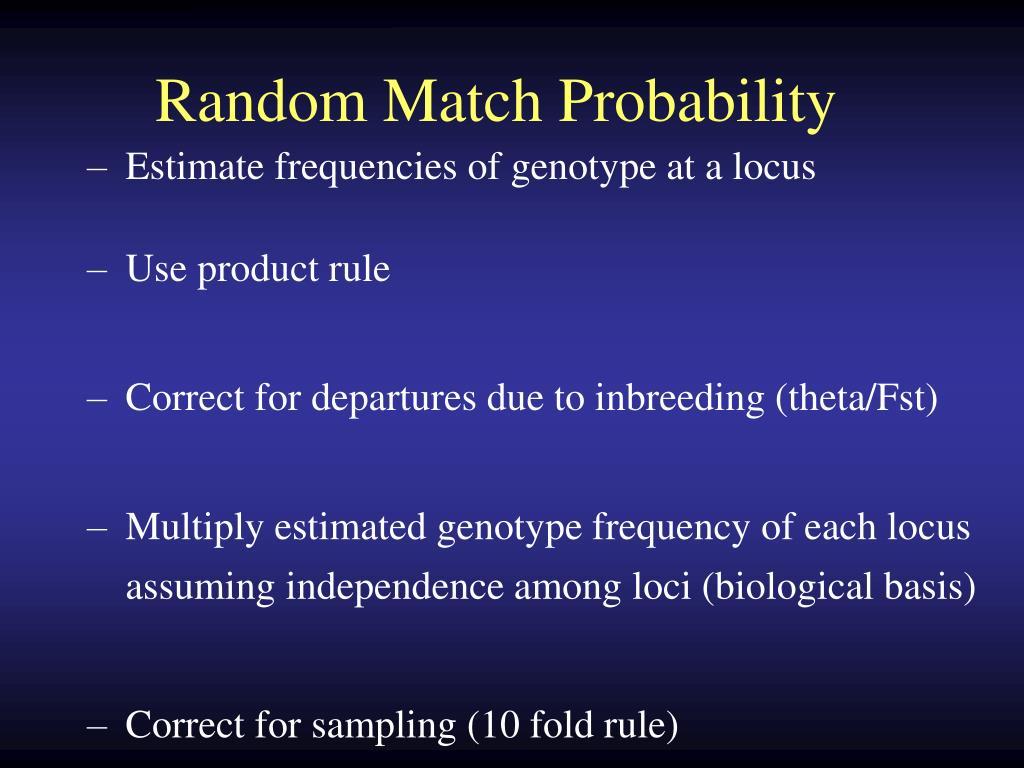 Random Match Probability