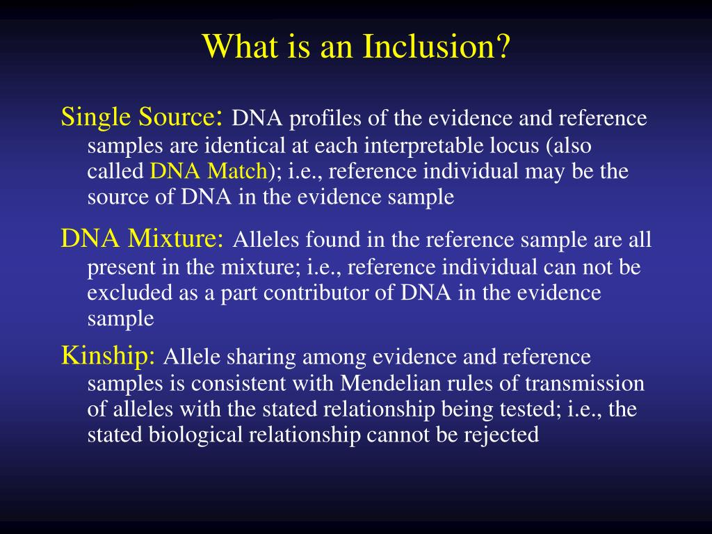 What is an Inclusion?