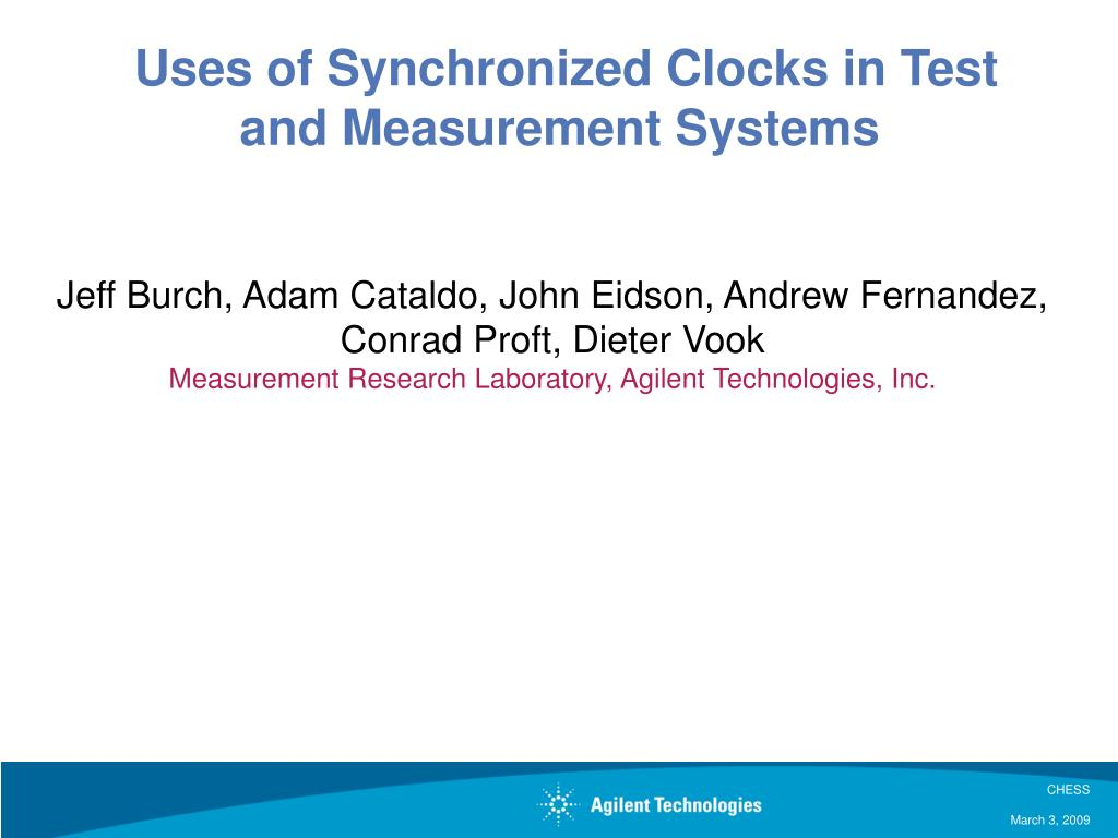 uses of synchronized clocks in test and measurement systems l.