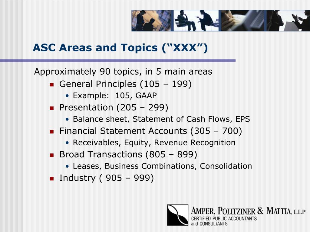 "ASC Areas and Topics (""XXX"")"