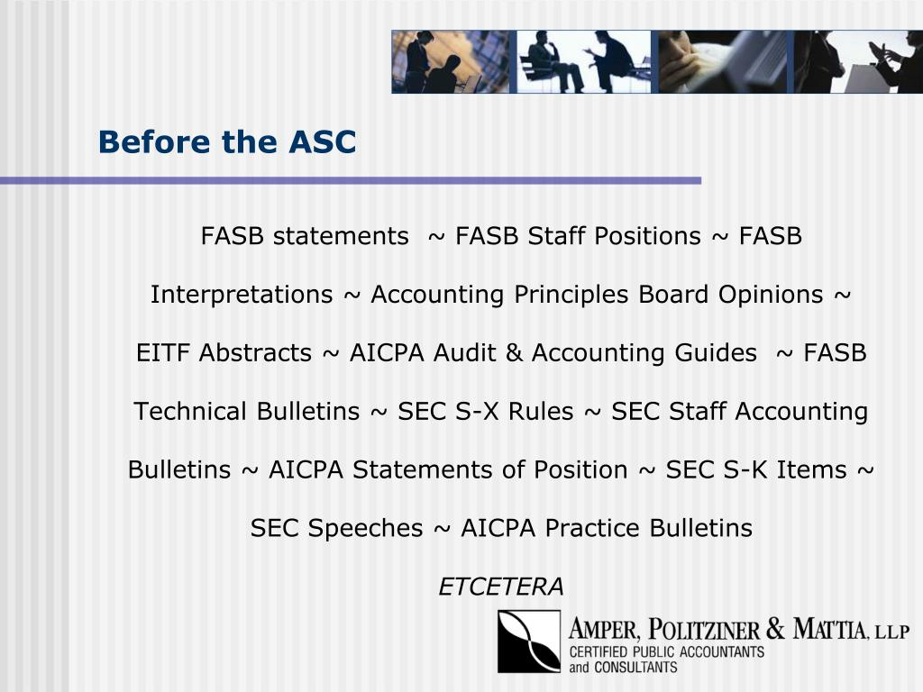 Before the ASC