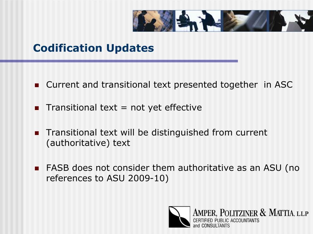 Codification Updates