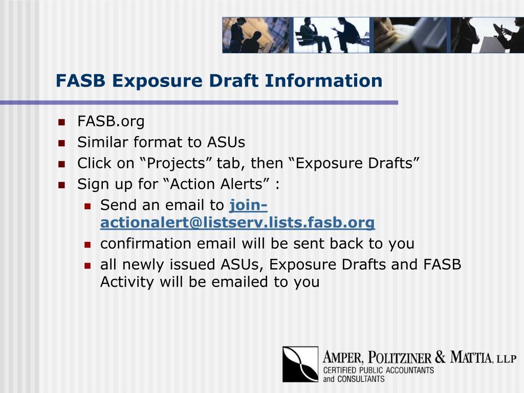 FASB Exposure Draft Information