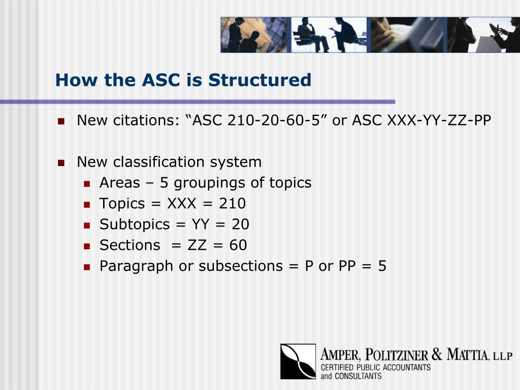 How the ASC is Structured