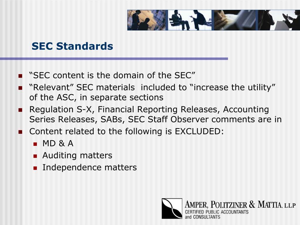 SEC Standards