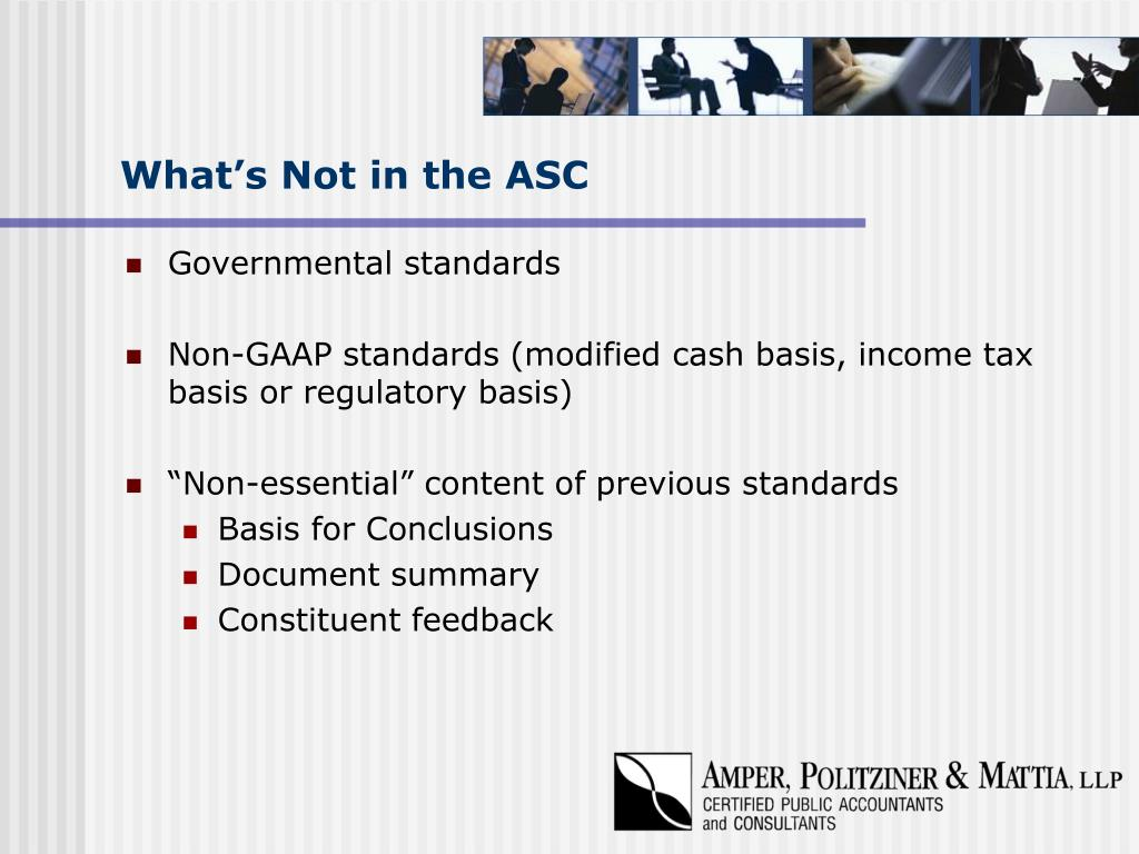 What's Not in the ASC