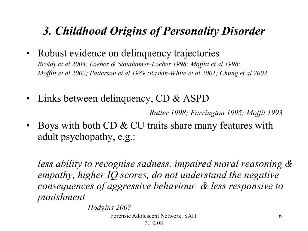 PPT - Rationale for Early Intervention in Personality Disorder: The