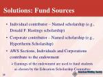 solutions fund sources