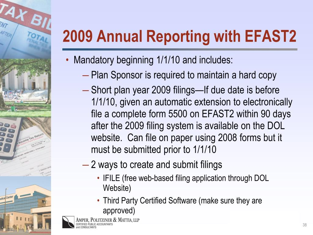 2009 Annual Reporting with EFAST2