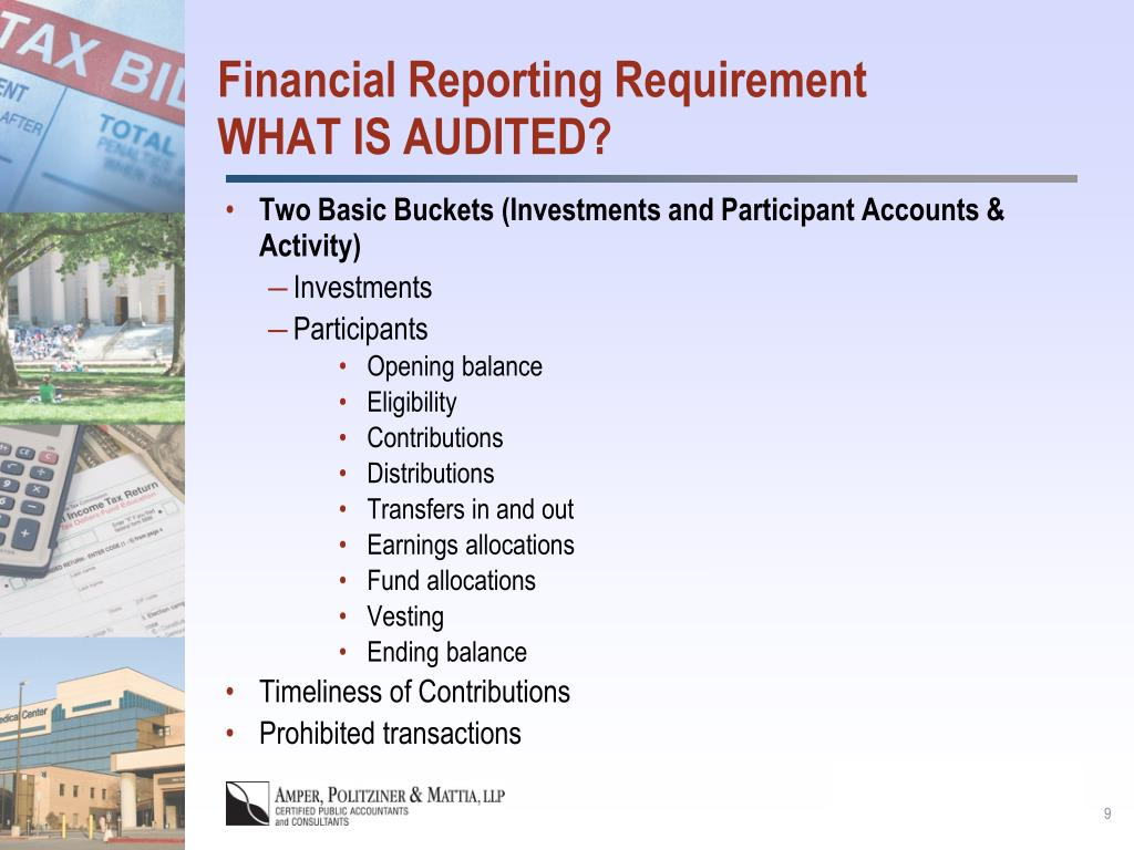 Financial Reporting Requirement