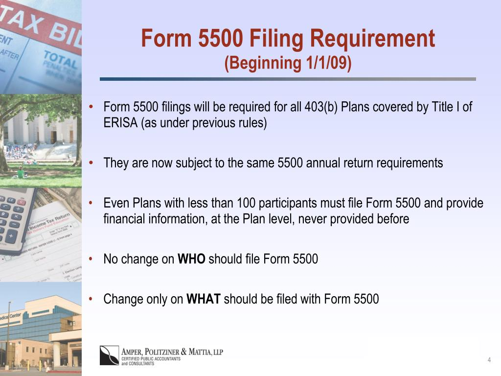 Form 5500 Filing Requirement