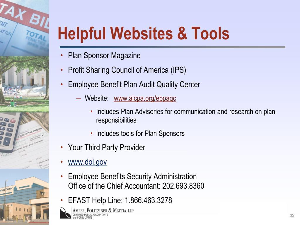 Helpful Websites & Tools