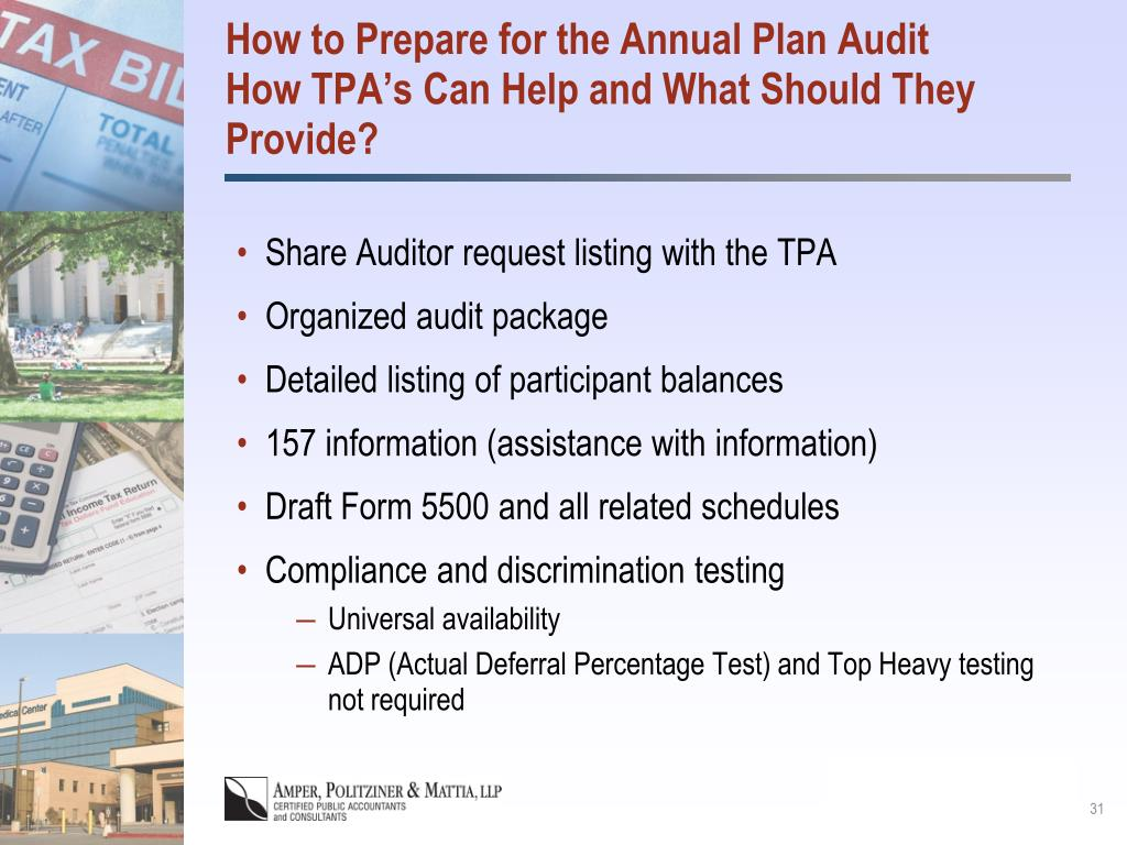How to Prepare for the Annual Plan Audit