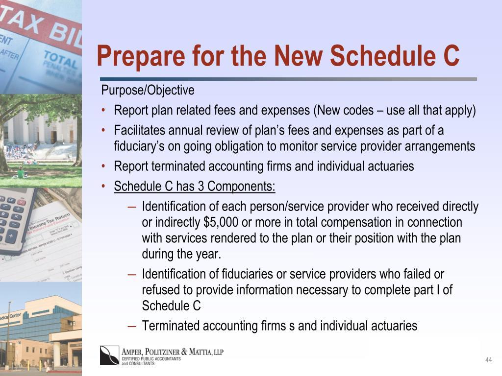Prepare for the New Schedule C