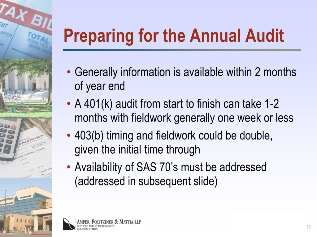 Preparing for the Annual Audit