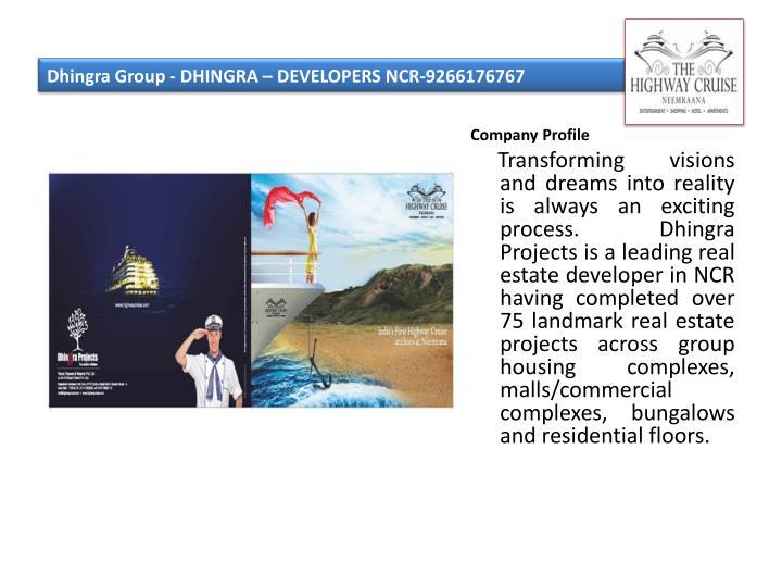 Dhingra group dhingra developers ncr 9266176767