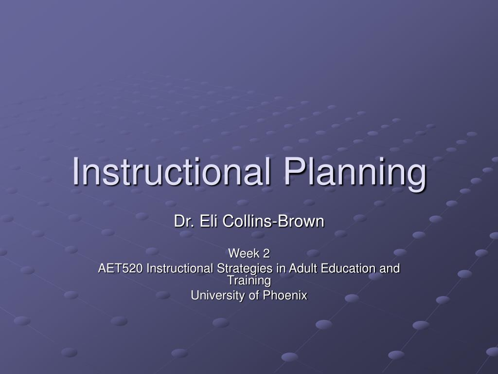 instructional planning l.