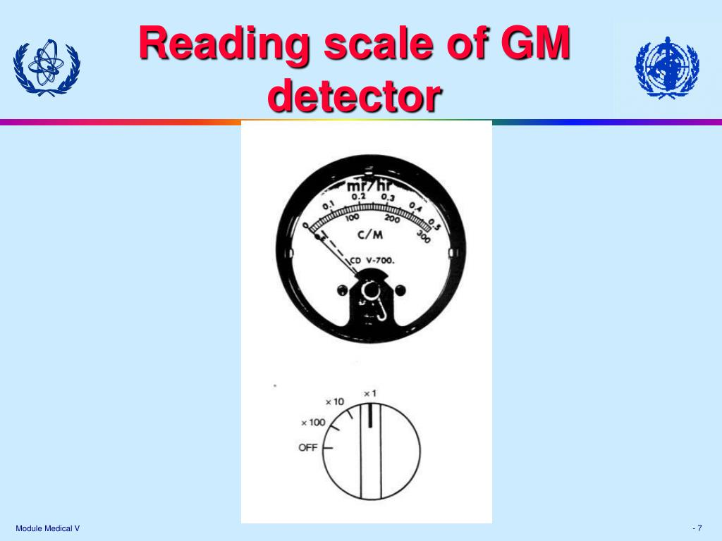 Reading scale of GM detector