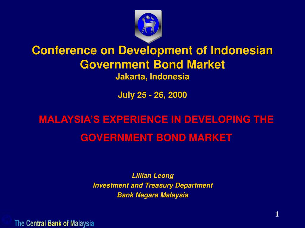 conference on development of indonesian government bond market jakarta indonesia july 25 26 2000 l.