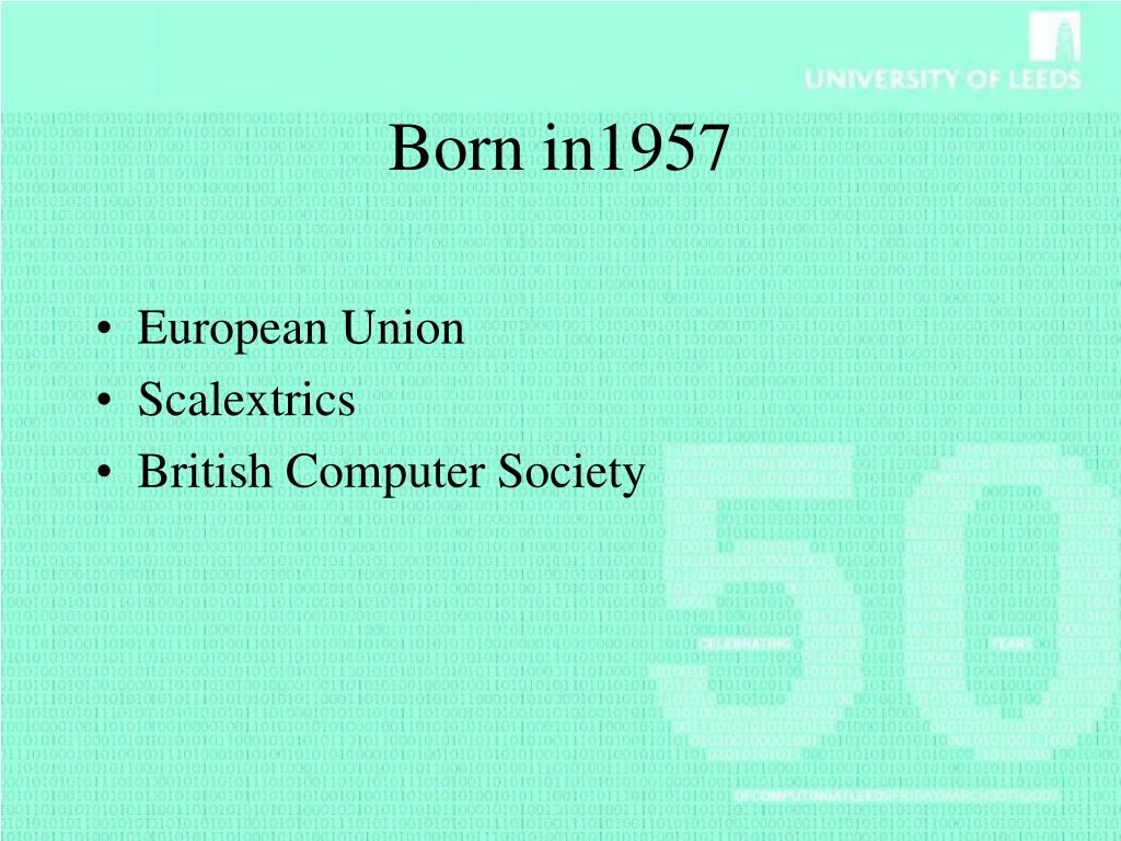 Born in1957