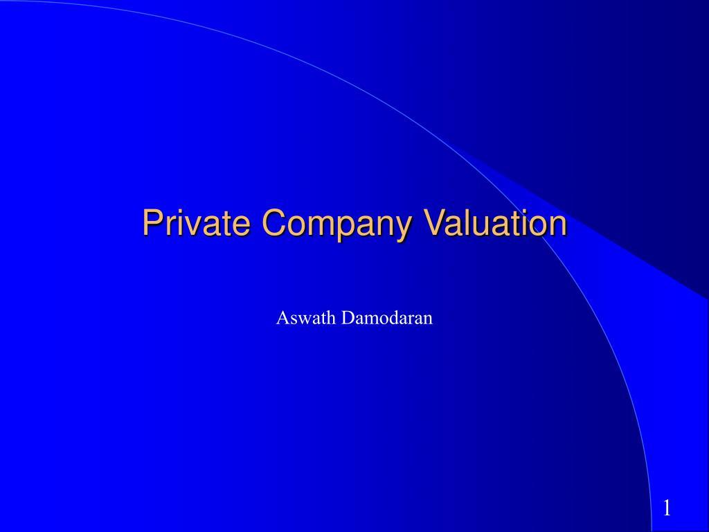 private company valuation l.