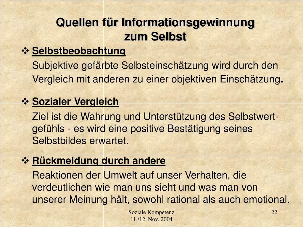 Quellen für Informationsgewinnung