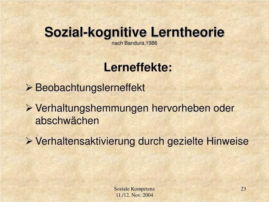 Sozial-kognitive Lerntheorie