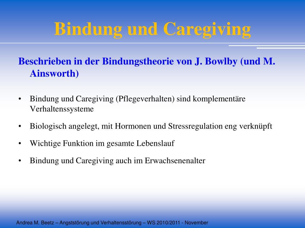 Bindung und Caregiving