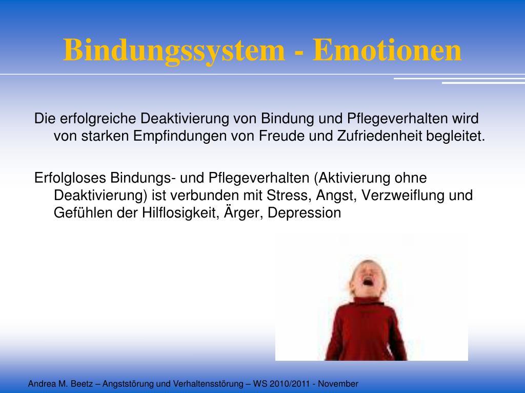 Bindungssystem - Emotionen