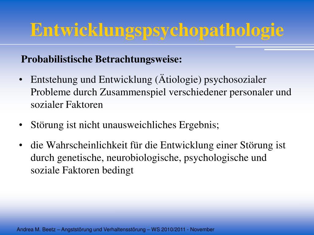 Entwicklungspsychopathologie