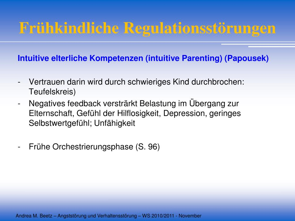 Frühkindliche Regulationsstörungen