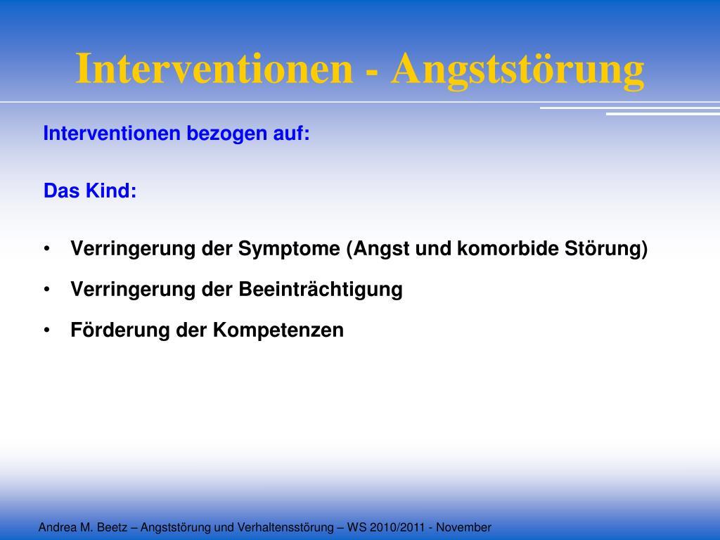 Interventionen - Angststörung
