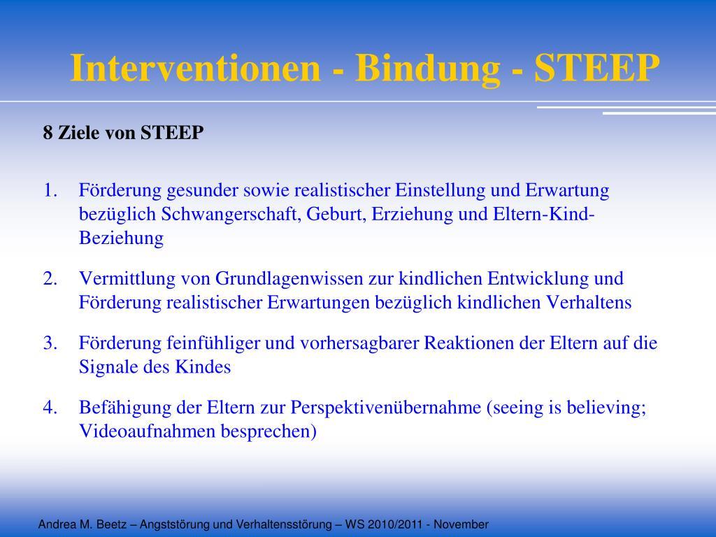 Interventionen - Bindung - STEEP