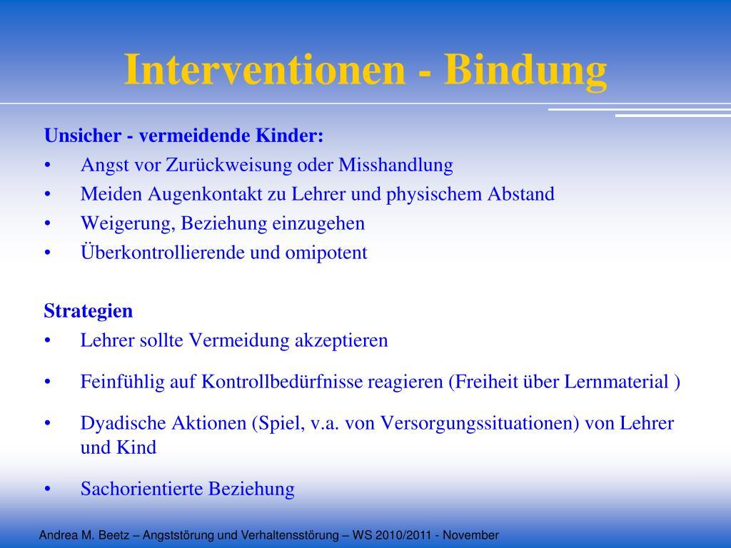 Interventionen - Bindung