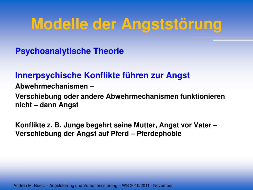 Modelle der Angststörung