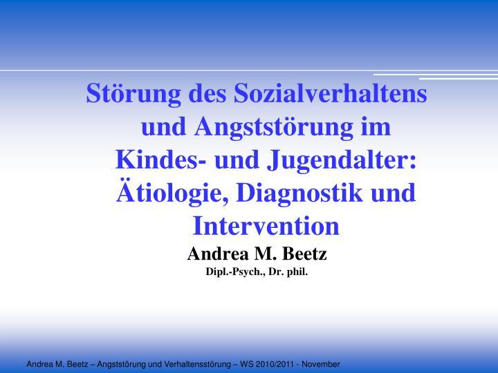 Störung des Sozialverhaltens und Angststörung im Kindes- und Jugendalter: Ätiologie, Diagnostik u...
