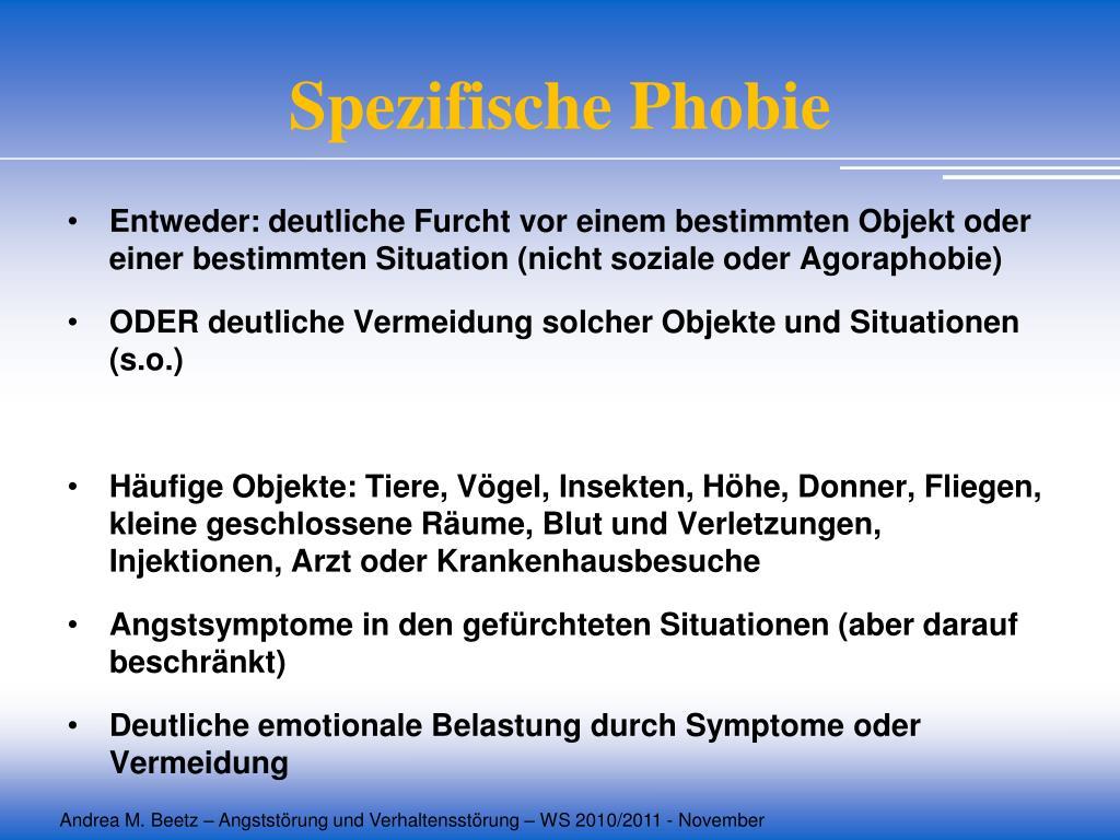 Spezifische Phobie